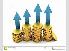 Money going up stock illustration. Illustration of cents