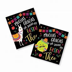 Party Favor Tag Fiesta Party Favor Tags Llama Birthday Taco Party