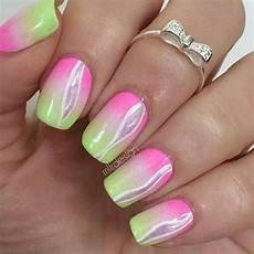 Light Pink And Green Nails Pink And Green Nails Pinterest