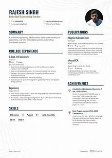 Resume Format Of Fresher The Best 2020 Fresher Resume Formats And Samples