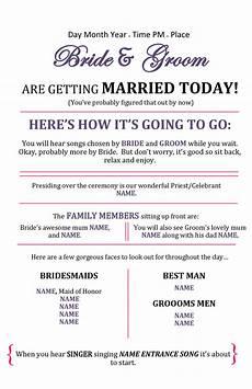 Program Template For Wedding 37 Printable Wedding Program Examples Amp Templates ᐅ