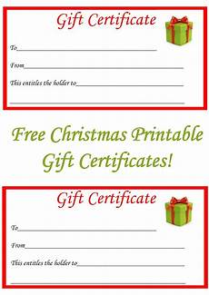 Gift Certificate Ideas For Christmas Free Christmas Printable Gift Certificates Christmas