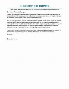 Cover Letter Customer Service Example Best Customer Service Cover Letter Examples Livecareer