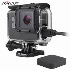gopro 5 sleeve soonsun wire connectable side opening protective shell