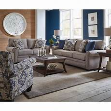 casual traditional taupe 2 living room set