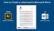 How To Design Letterhead In Word How To Create A Letterhead In Microsoft Word 2016 2013