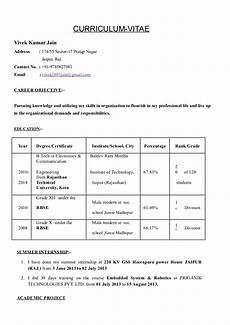 Resume For Job Interview Vivek Jain Resume For Interview
