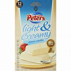 Peters Light And Creamy Vanilla Slices Peters Light Amp Creamy Classic Vanilla Ice Cream Slices