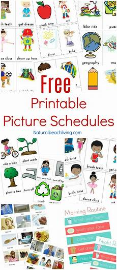 Printable Daily Schedule Kids Visual Schedule Free Printable Routine Cards Natural