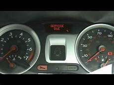 Renault Master Service Light Reset Renault Clio Service Light Reset Youtube