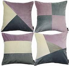 mcalister textiles set of 4 patchwork velvet cushion