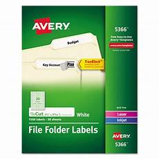 Avery Com Templates 5366 Avery 5366 Permanent File Folder Labels Trueblock Laser