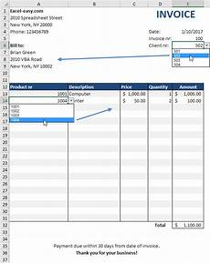 How To Make Invoices In Excel Automated Invoice In Excel Easy Excel Tutorial