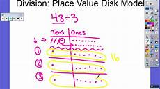 Place Value Chart With Disks Division Place Value Disk Model Youtube