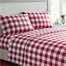 mellanni plaid bed sheet set brushed microfiber 1800