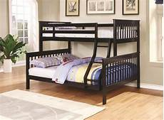 chapman 460259 bunk bed in black by coaster