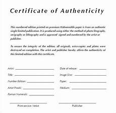 Authentication Certificate Format Certificate Of Authenticity Templates Word Excel Pdf
