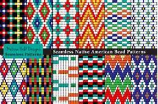 seamless tribal bead patterns graphic patterns