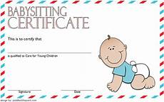 babysitting coupon templates babysitting certificate template 8 latest designs in