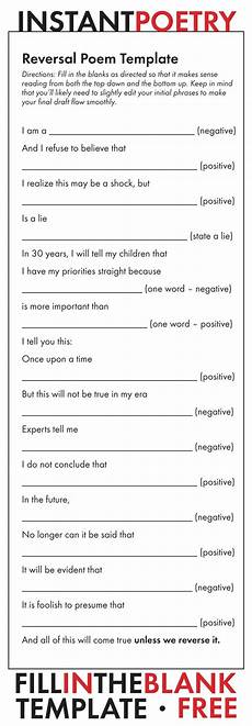 Poem Outline Poem Template Free And Easy Poetry Assignment Just Print