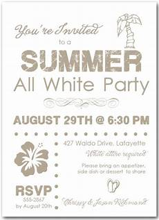 All White Party Invitations Templates Summer White Party