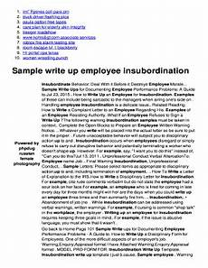 Sample Of Employee Write Up 5 Printable Employee Write Up Sample Forms And Templates