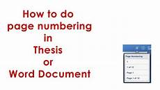 Numbering Tickets In Word How To Do Page Numbering In Thesis Word 2007 Or Word 2010