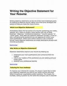 What Are Some Good Objectives To Put On A Resumes Writing The Objective Statement For Your Resume