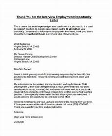 Thank You For Opportunity Letter Sample Free 74 Thank You Letter Examples In Doc Pdf Examples