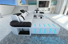 Couch Led Lights Leather Sofa Couch Set Bellagio U Shaped Led Lighting