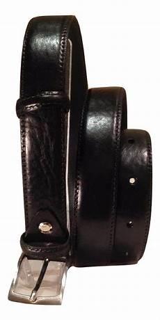 pelle vacchetta cintura uomo in pelle di vacchetta colore nero