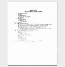 Outline Template Chapter Outline Template 10 Free Formats Examples And