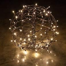 Warm White Hanging Christmas Lights Warm White Led Christmas Light Ball Fold Flat Brown Frame