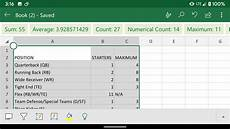 Spreadsheet In Excel Use Your Phone To Turn A Photo Of Data Into A Microsoft