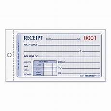 Receipt Copy Rediform Rent Receipt Manifold Book Quickship Com