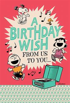 Cards Of Happy Birthday Peanuts 174 Happiness The Whole Year Through Birthday Card