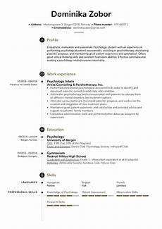 Intern Sample Resume Psychology Intern Resume Sample Kickresume