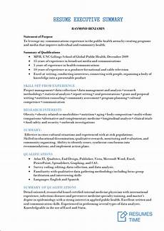 Summary Of Resume Sample Executive Resume Samples And Examples To Help You Get A