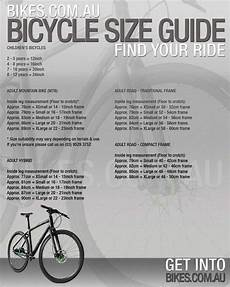 Sizes Of Bikes Chart Bicycle Size Guide