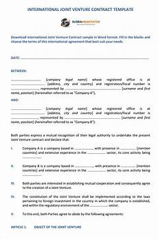 Joint Venture Contract International Joint Venture Contract Sample Contracts