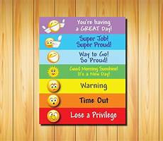 Color Coded Grammar Chart Printable Digital Behavior Chart For Kids Of All Ages