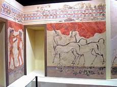 minoan fresco exhibition from akrotiri santorini
