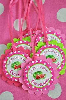 Party Favor Tag Watermelon Party Favor Tags Thank You Tags Party Favors