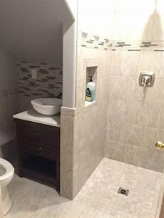 3 4 Bathroom Designs Turned Our Half Bath Into 3 4 Bath By Putting Shower In