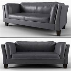 Small Grey Sofa 3d Image by 3d Model Sofa No 5 Olso Gray Leather Sofa Cgtrader