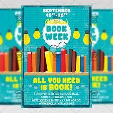 Flyers Book Children S Book Week Flyer Community A5 Template