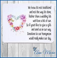 Wedding List Poems 10 Personalised Wedding Money Poem Honeymoon Wish Poems