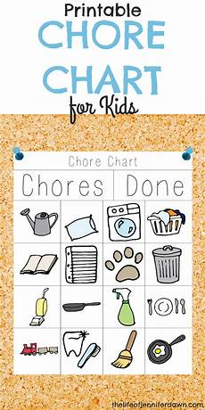 Little Kid Chore Chart Printable Chore Chart For Kids That Is Fun And Interactive