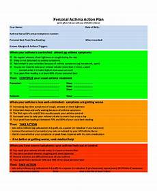 Asthma Action Plan Chart 54 Action Plan Examples Pdf Word