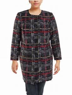nine west nine west womens plus fall fashion midi coat